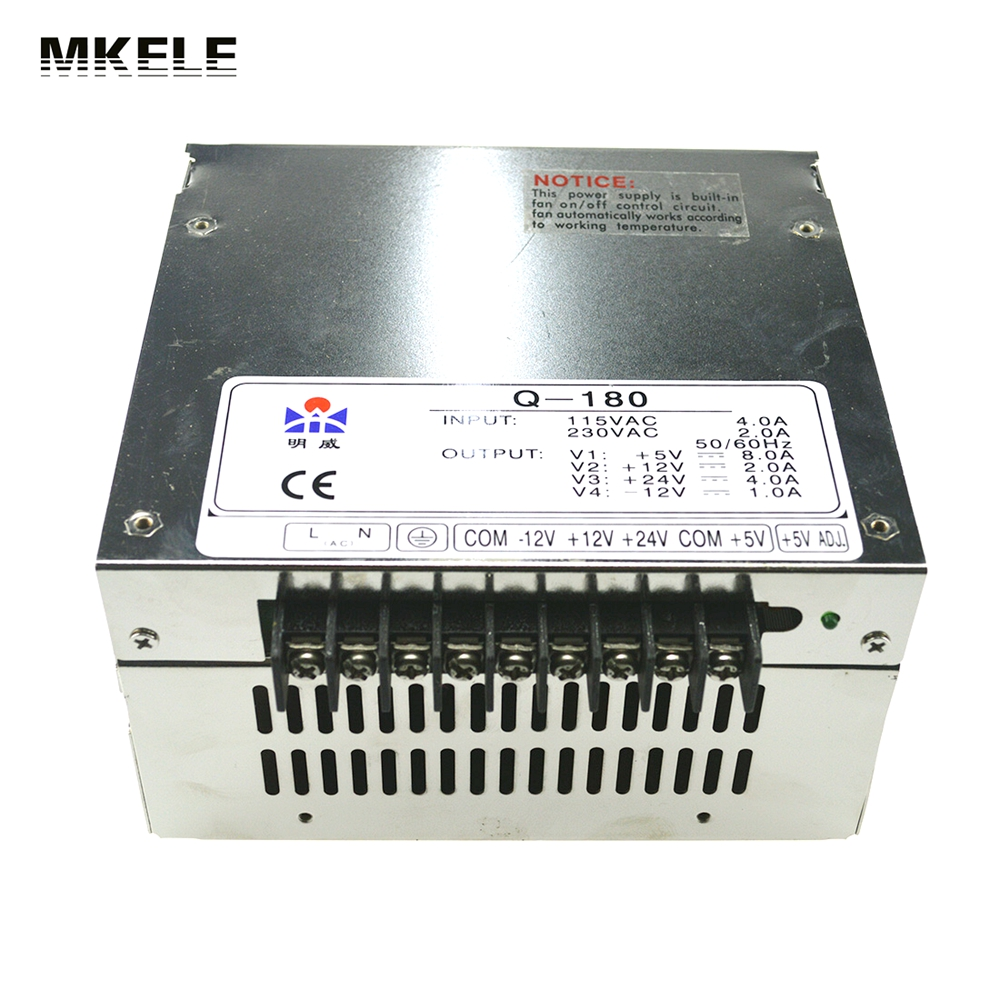 High Quality Quad Output Switching Power Supply Driver180W 5V 12V 24V -12V 8A 2A 4A 1A AC-DC Converter Q-180D<br>