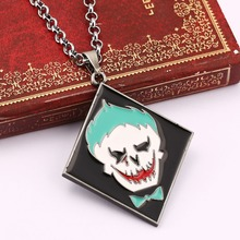 Suicide Squad necklace new design anti-hero image charm necklace Movie Series TASKFORCE stainless chain For Gift