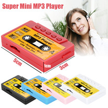 5CM Tape Shape Design Sport Portable Mini Mp3 Player Stereo Bass Music Player Support Micro SD Card With Earphone #YL(China)