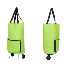 Buy Wulekue Oxford Folding Shopping Cart Bag Wheels Trolley Bags Travel Storage Package Handbag Organizer for $14.22 in AliExpress store
