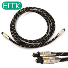 EMK 1m/2m/3m/5m/10m/15m Digital Optical Audio Cable Fiber Optic Cable OD6.0mm Toslink Cable Male-Male For CD DV VCR MINI Disc(China)