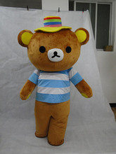 100% real images were Rilakkuma mascot costume teddy bear clothing free shipping