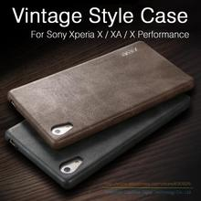 Ultra Thin Vintage Leather Case For Sony Xperia X XA XP X Performance 5.0 inch Luxury Mobile Phone Soft Back Cover