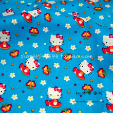 Hello Kitty Cat Print Fabric105*50cm1pc100%Cotton Fabric Hello Kitty Cat Print Quilting Fabric Sewing Material Diy Baby Clothing
