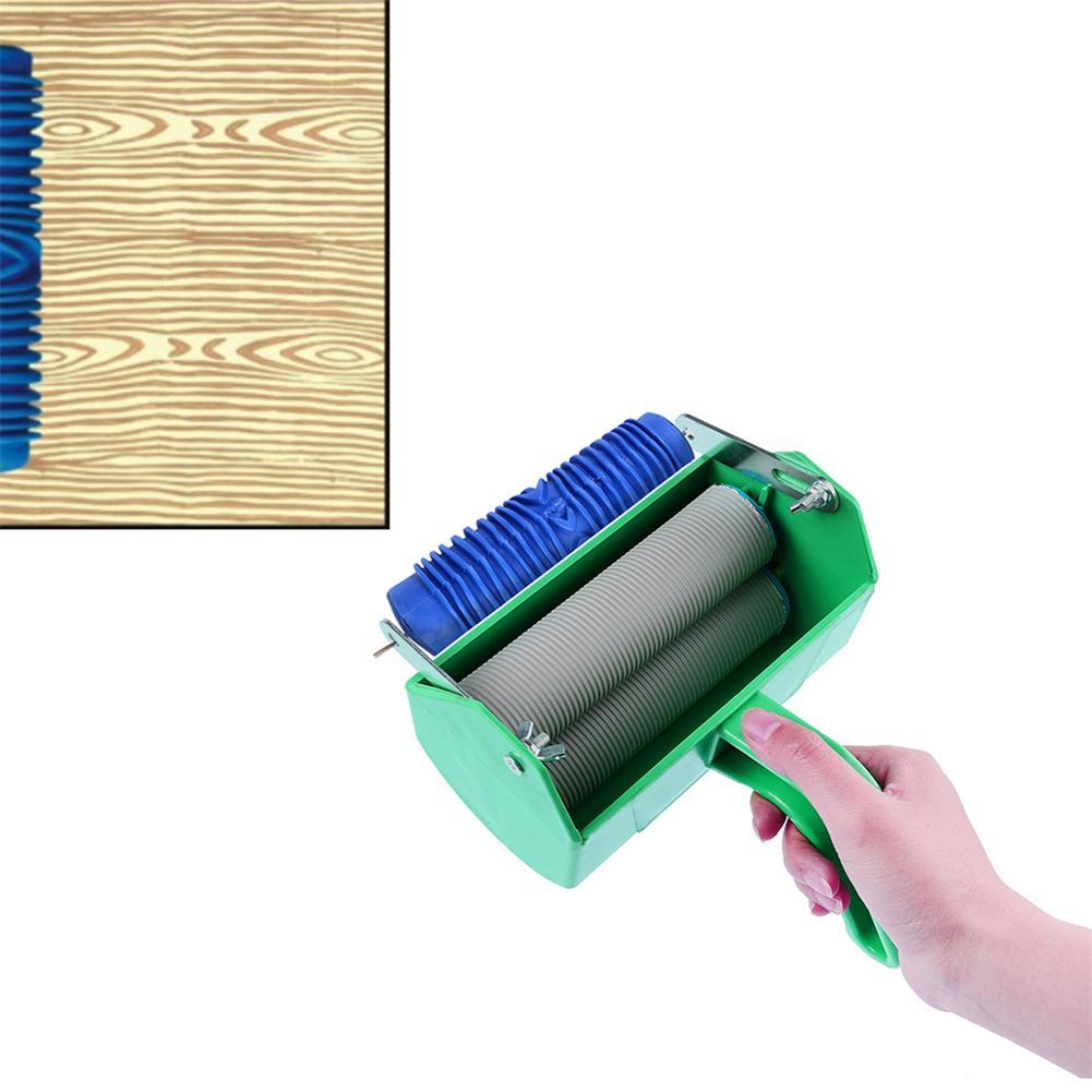 Rodillo de pintura de 5 pulgadas M/áquina de marco de pintura con mango Cepillo del rodillo Herramienta de bricolaje verde para el hogar decoraci/ón de la pared