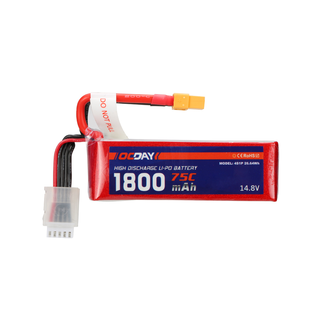 Wholesale 1pcs OCDAY Lipo Battery 14.8V 1800mAh 75C 4S XT60 Plug For RC Quadcopter Truck Buggy Bateria Lipo High Quality<br>