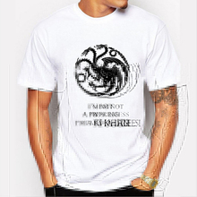 2016 Latest Game of Thrones Targaryen T-shirt Fashion I'm a Khaleesi Print Tshirt Homme Black Dragon Short Sleeve Tee Shirt Men