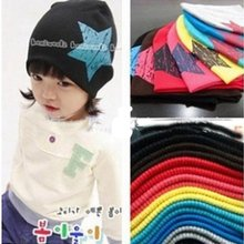 Fashion Lovely Big Star New Spring Baby Hats Children Skullies Beanies Scarf Hat Set Baby Boys Girls Knitted Kids Hats Caps
