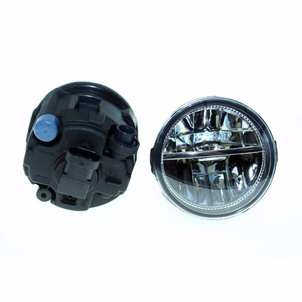 2PCS For NISSAN Murano Z51 Closed Off-Road Vehicle 2007-2013 2014  Front Fumper LED fog lights Car styling H11 drl led lamps<br>