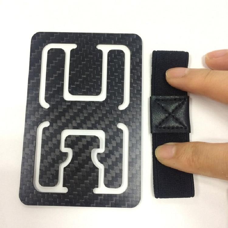 Genuine Carbon Fiber Glossy Flat Money Clip Credit Card Business Card Holder  (11)