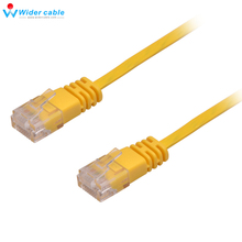 Hot Sale New 15M 32AWG UTP Lan Cord Yellow Shinning Color Flat Ethernet Network Cable CAT6