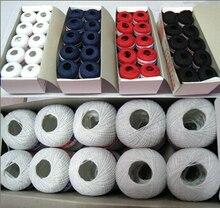 Вышивание линии Черный, красный, белый цвета темно-500 ярдов 0.5 мм диаметр хлопок Вышивание Нитки для женщины рукоделие 20 штук(China)