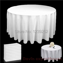 2016 NEW 7 Colors 108 INCH ROUND TABLE CLOTH BANQUET WEDDING SATIN FABRIC TABLECLOTH+FREE SHIPPING(China)