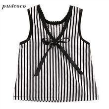 Casual Style Baby Girl Clothes Summer Dress 2017 Fashion Girls Cotton Striped Dresses Children Clothing Girl Vestidos(China)