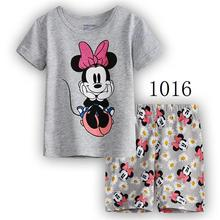 Drop shipping Summer Baby Sleepwears Cartoon Suits Boys minnie Pajamas Children Pyjamas Girls Cartoon Pijamas