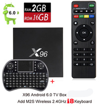 [Genuine] X96 Android 6.0 Quad Core Set TV Box BT 4.0 2.4GHz 5.0GHz Dual WiFi Set Top Box 2G 16G 4K*2K Media Player+i8 keyboard