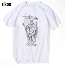 JESUS T Shirts Men Novelty Personality Tshirts Christian Catholic God T-shirts Summer Short Sleeve Tees xxxl(China)