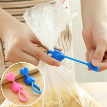 5pcs Elastic tape silicone bag clip snacks sealing clips food bags moisture-proof strapping tape kitchen accessories