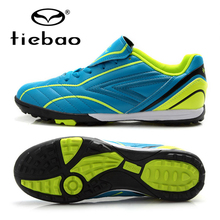 TIEBAO Professional Children Kids Football Shoes TF Turf Soles Shoes Sneakers Outdoor Sport Boys Girls Soccer Boots Cleats(China)