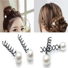10 Pcs New Arrival Charm Sweet Hair Pin Grips Spirals Bobby Pins With Pearl Nice Good Jewelry Accessories(China)