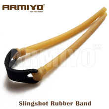 Armiyo 6mm*9mm Elastic Bungee Catapult Rubber Band for Powerful Slingshot Catapult Hunting Shoot Bow Arrow Accessories 5pcs/lot(China)