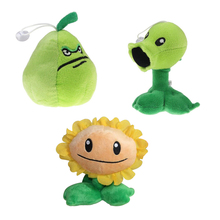 3pieces/lot Plants vs Zombies Plush Toys Soft Stuffed Plush Toys Doll Baby Toy Party Toys(China)