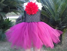 Little  Girls Fashion Tulle Dress  Hnadmade Tutus with Flower KP-6CTU026