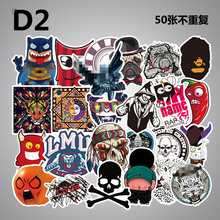 50 pcs Funny Cartoon Stickers on Case Suitcase Home Decor Phone Laptop Covers DIY Vinyl Decal Sticker Bomb styling