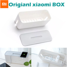 100% original xiaomi Power Cord Socket Storage Box Dust insulation Cooling Hole Strip Plug Base Home Storage Tools ABS boxes