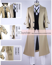 New arrival Osamu Dazai Cosplay Bungo Stray Dogs Anime Armed Detective Agency Member Costume(China)