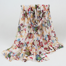 New Fashion Scarf cute owl Print Scarfs For Women sping Autumn Shawl animal Scarves ladies infinity scarf BLS011