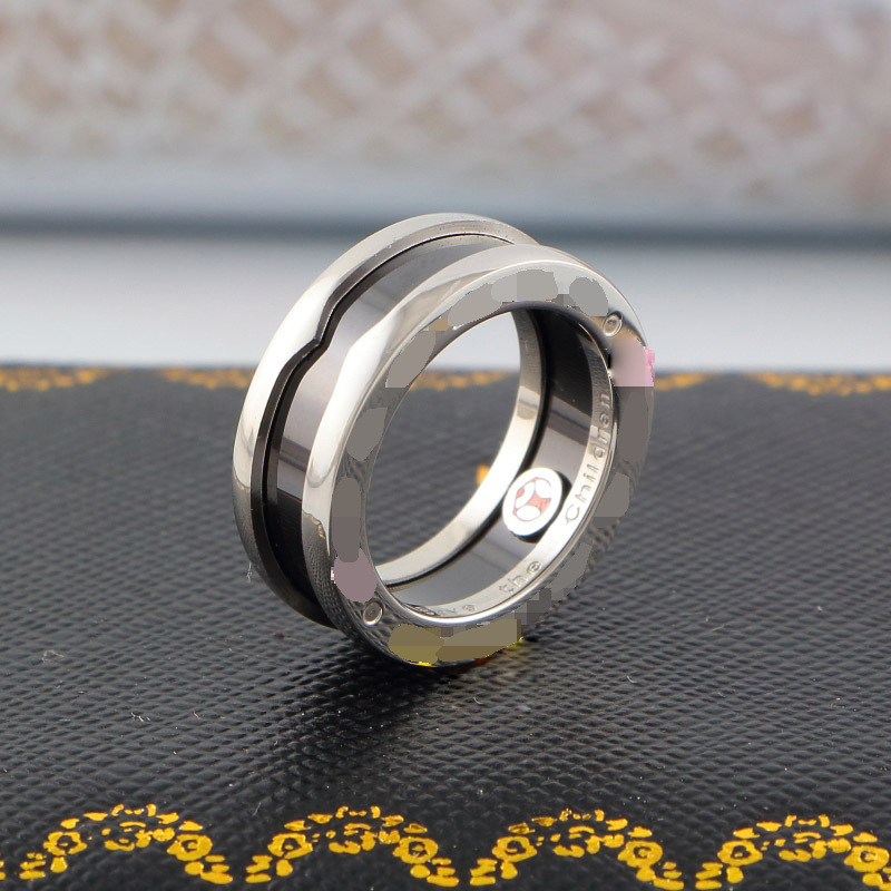 Bulgaria-Fashion-Charitable-Style-Black-Ceramic-Rings-Platinum-Plated-Titanium-Stainless-steel-with-Red-mark-Women