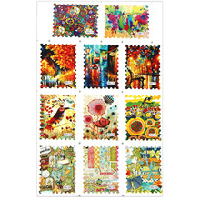 11 Tips/sheet Water Transfer Full Cover Sticker Postage Stamp Decal Vintage Flower Bird Decorative Stickers Nail Accessories