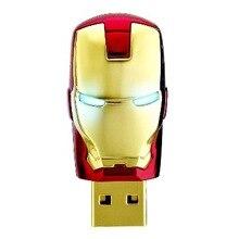 2017 Железный человек Модель USB Flash Drive 32 ГБ 16 ГБ 8 ГБ Автомобиля Key Memory Stick Флэш Pen Drive U диск брелоки глаз свет диск
