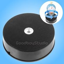 1KG Loading 14cm LED 3D Photo 360 Degrees Rotating Display Stand Rotary Turntable BLACK
