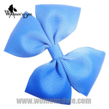 "WomensDate 30Pcs/Lot 3.5"" Boutique Sky Blue Girl's Pinwheel Hair Bows Without Clips Headwear Bow Hair Band Free Shipping(China)"