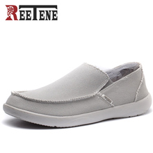 REETENE New arrival Men Shoes Mens High Quality Casual Shoes Jeans Canvas Casual Shoes Slip On men Fashion Flats Loafer Zapatos