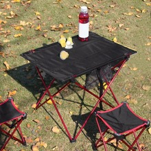 Outdoor Folding Table Aluminium Alloy Structure Camping Table Waterproof Ultra-light Durable Furniture Accessory For Picnic(China)