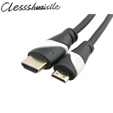 (100pcs/lot) Mini HDMI Male to HDMI Male white BK bi-color CABLE 6ft for ASUS TF101 N8