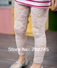 Children legging girl lace legging for summer capri pants cropped trousers girl clothes JB760(China)