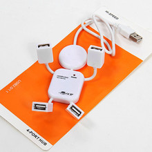 Car devices Cool 4-Port High Speed Multiple Color USB 2.0 Hub Charger Cable Adapter Flexible in Car