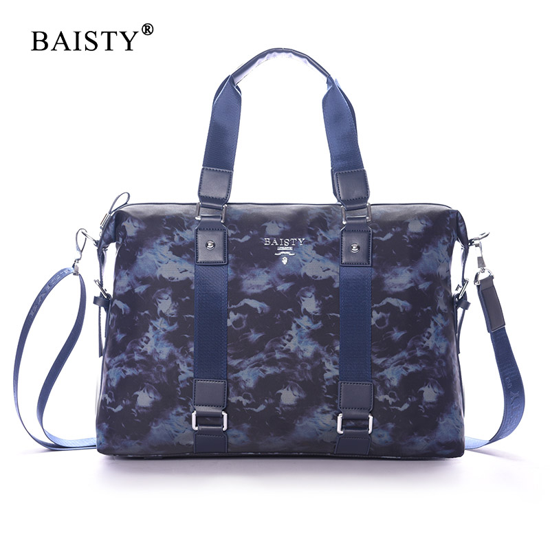BAISTY Brand 2017 New Men Handbags High quality Tote bags Men Business briefcase luxury design Camouflage Pattern Crossbody bag <br>