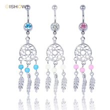 Hot Belly button rings Body Jewelry piercing ombligo Crystal Belly Navel Barbell Bar Ring Body piercing navel piercing nombril(China)
