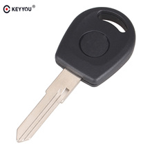 KEYYOU Car Key Shell Replacement Auto Transponder Key Case Blank Cover Fit For Volkswagen Jetta Free Shipping