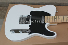 Chinese musical Instruments Factory custom 2017 New white telecaster electric guitar black Pick Guard free shipping(China)