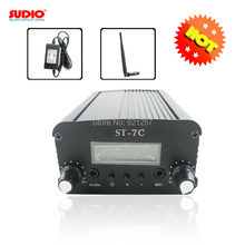 SET OF FM broadcast transmitter for radio station ST-7C stereo PLL  with power supply with small antenna kit whosesales