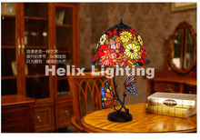 Newly  Tiffany Table Lamp For Bedroom Colorful Glass Vintage Desk Lamp Glass Novelty Lamp Gifts Decorative Lighting