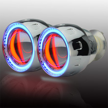 Wholesale price 2.5 inch Bi-Xenon HID Projector Lens angel eyes universal for headlight parking H1/H4/H7/H3/9005/9006