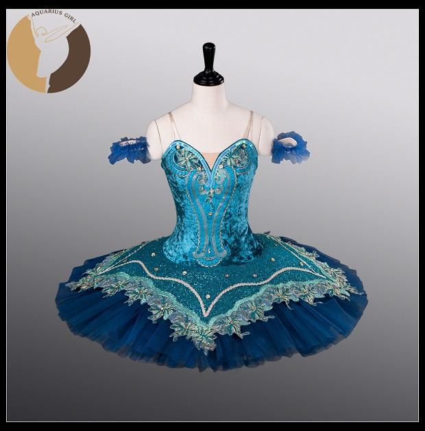 blue color ballet dress