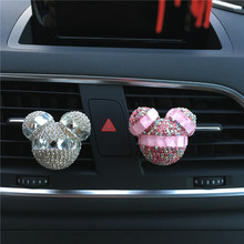Mickey Outlet Perfume Car Air Conditioning Outlet Car Decoration Aromatherapy Diamond Mickey Car Styling Perfumes 100 Original